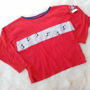 Vintage 90's Cow Print Red Boxy T-Shirt Deadstock